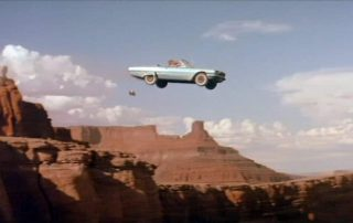 Scene from Thelma and Louise - Car drives off a cliff