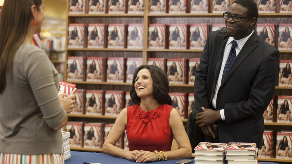 A fancy book signing from the television show VEEP